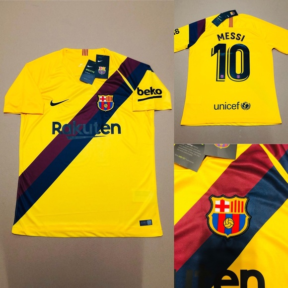 089b1343878 2019 AWAY New Barcelona Soccer Jersey MESSI  10